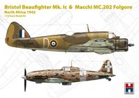Bristol Beaufighter Mk. Ic &  Macchi MC.202 Folgore North Africa 1942