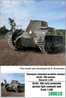 Sd.kfz. 265 early production german light command tank