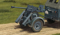 2.8cm sPzB41 On Larger Steel-Wheeled Carriage w/Trailer