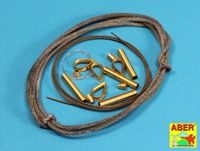 Tow cables and track cable with brackets used on Tiger I, King Tiger and Panther - Image 1