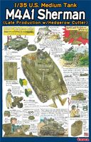 U.S. Medium Tank M4A1 Sherman (Late Production w/Hedgerow Cutter)