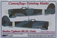Camouflage painting masks Hawker Typhoon Mk.IB Early