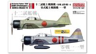 "IJN Carrier Fighter ""ZERO"" A6M1 (Prototype) & A6M2a (Model 11), (Two kits in box) - Image 1"