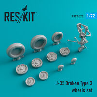 J-35 Draken Type 3 wheels set - Image 1