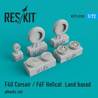 F4U Corsair / F6F Hellcat Land based wheels set - Image 1