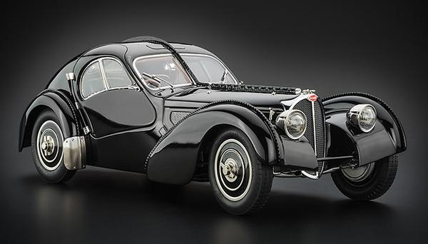 Bugatti type 57 sc atlantic 1938 black die cast kant en klaar