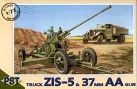 Soviet truck ZIS-5 and Anti-Aircraft Gun 37 mm