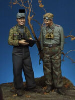 German panzer officer & NCO - Image 1