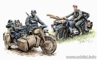"""Kradschutzen: German Motorcycle Troops on the Move"" - Image 1"