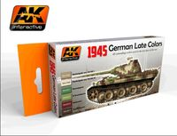 AK 554 1945 German Late War Colors Set