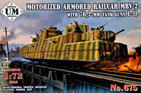 Armored Railcar MBV-2 with Tank Guns L-11