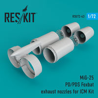 MiG-25 PD/PDS Foxbat exhaust nozzles for ICM Kit - Image 1